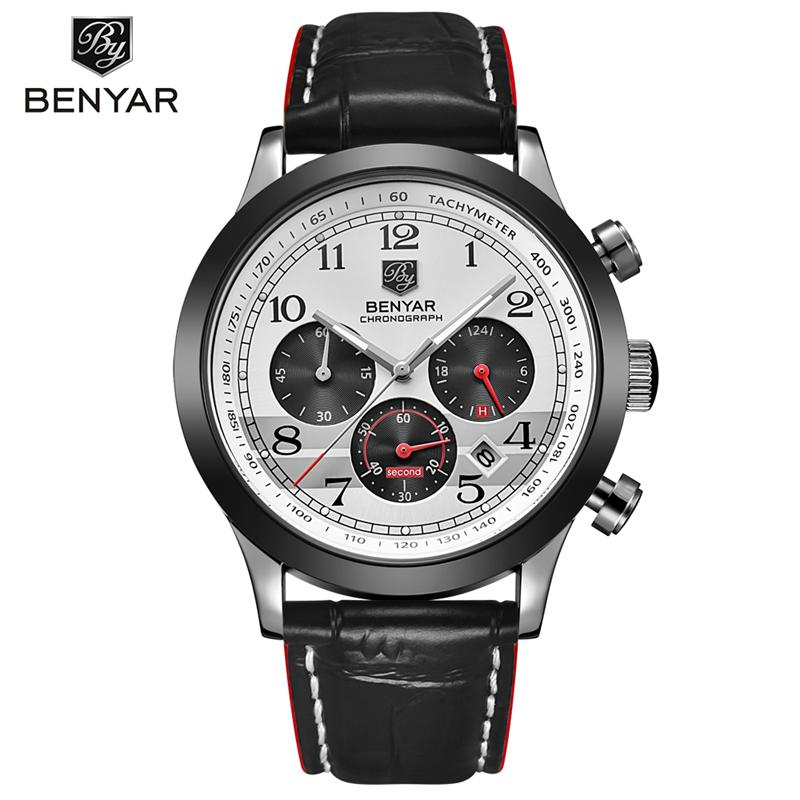 цены  Mens Luxury Black Wristwatches Male brand Watches Quartz man Clocks Waterproof Leather Strap Fashion Business Luminous Calendar