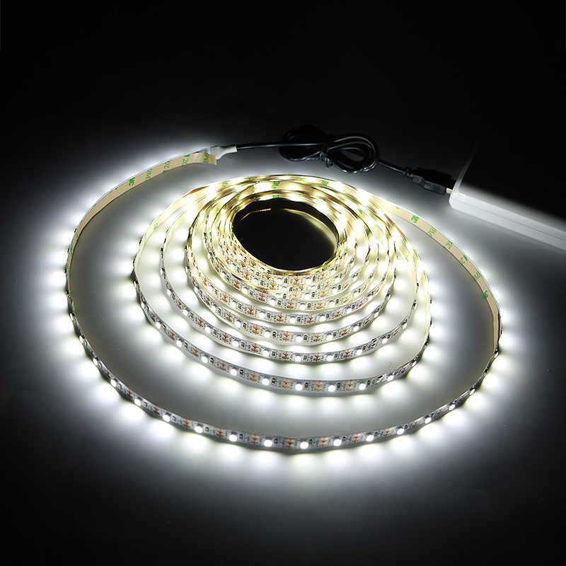"DC 5 V SMD 3528 אור גמיש רצועת LED USB מנורות LED אור תאורת רקע טלוויזיה דבק קלטת 50 ס""מ 1 M 2 M 3 M 4 M 5 M"