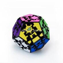 Lanlan Megaminx Gear Cube Dodecahedron Puzzle Cube Black
