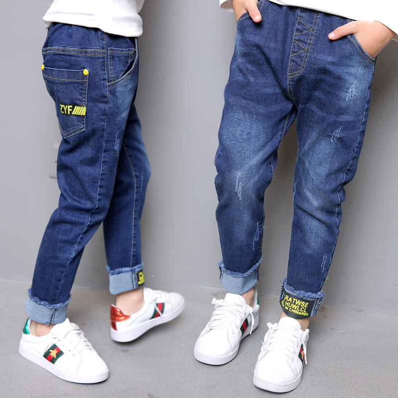 Boys Girl Jeans Pants Spring Autumn New Big Children Jeans for Girl Trousers 2017 Denim Jeans Kids Size 4 5 6 7 8 9 10 11 Year children s clothing male child jeans trousers spring autumn child jeans big boy letter print jeans trousers casual pants 4 14y