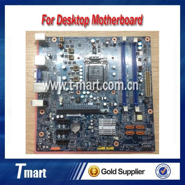 ФОТО 100% working Desktop motherboard for Lenovo H420 H61 F4160 F328 K330B CIH61M E3560E2688 System Board fully tested
