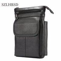 SZLHRSD Cell Phone Case Genuine Leather zipper pouch Belt Clip Waist Purse Cases Cover for Xiaomi Redmi S2 UMIDIGI Z2 Pro