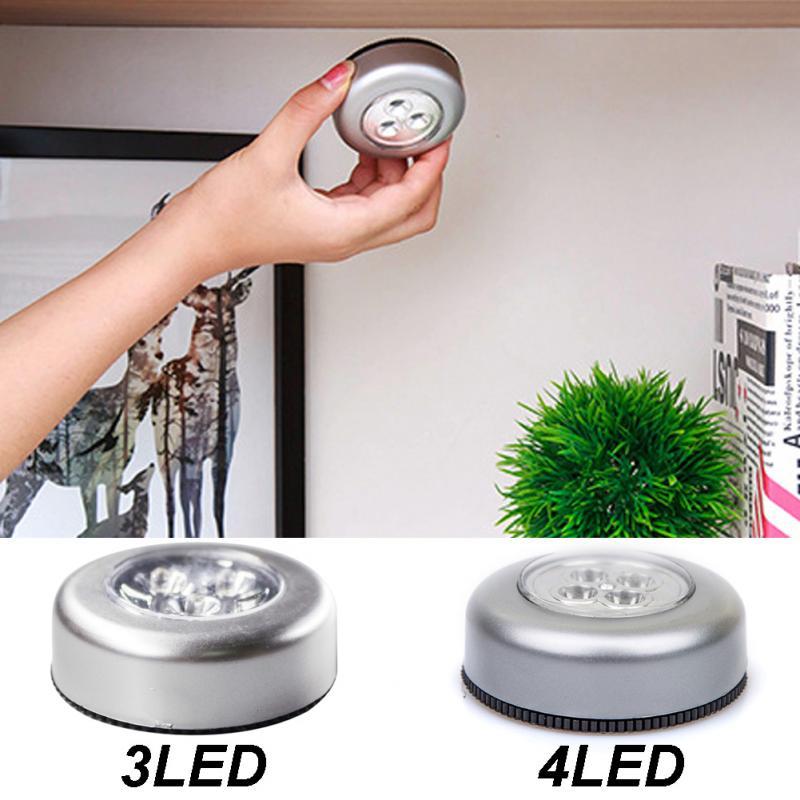 Mini lámpara de noche portátil para el hogar, luz de lectura para la noche, lámpara de gabinete, luz led para armario para la habitación del coche 5 uds 4mm/0,16