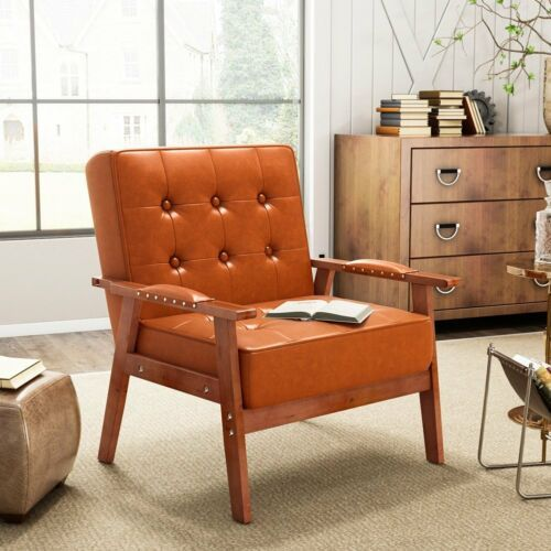 PU Leather Tufted Chair 1