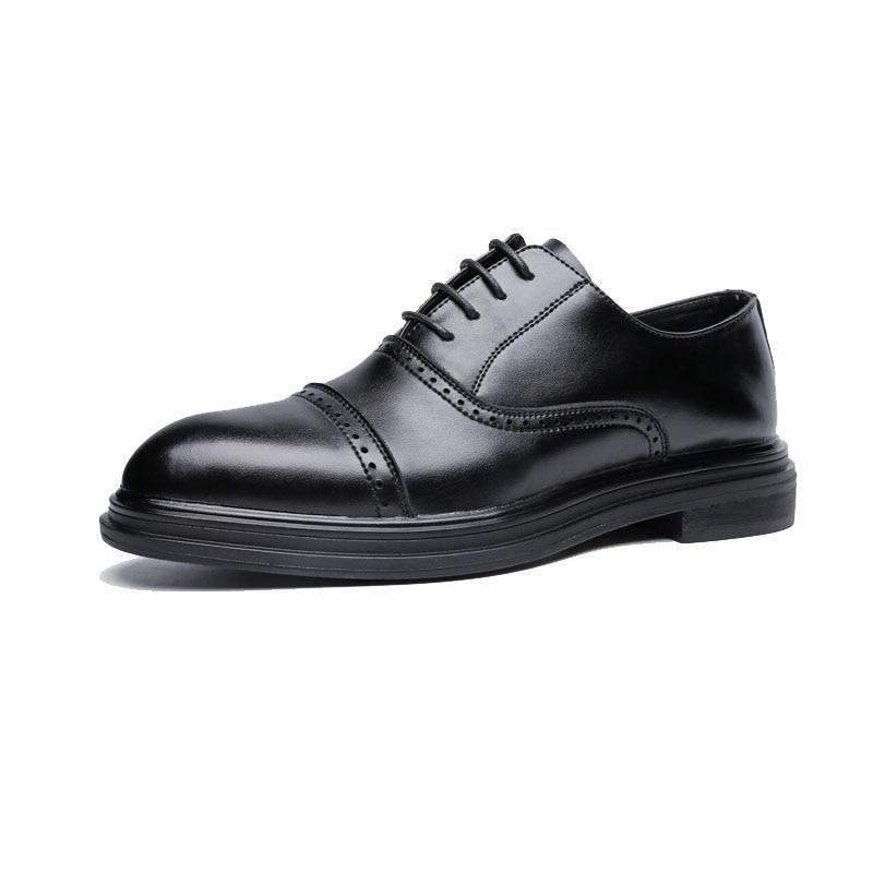 DXKZMCM 2018 en cuir véritable hommes richelieu chaussures à lacets Bullock affaires robe hommes Oxfords chaussures hommes chaussures formelles - 2
