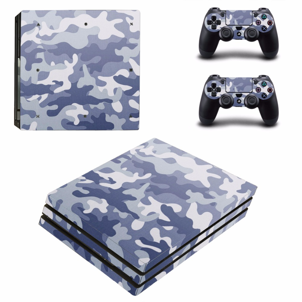 Camouflage Camo PS4 Pro Skin Sticker For Sony PlayStation 4 Console and 2 Controllers PS4 Pro Skins Sticker Decal Vinyl