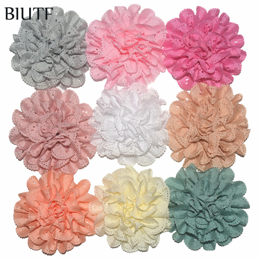 100Pcs/lot Wholesale Wave Hollow Out girl Head Flower Girl's Hair Accessories Headdress Fabric Cloth Flower Free Shipping TH03 free shipping elegant women hair fascinator hats hair accessory flower girl hair accessories hair bows with clips fabric flower