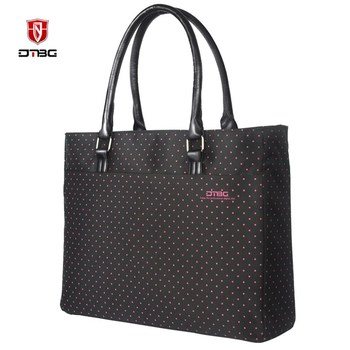 DTBG Laptop Tote Bag 15.6 Inch Women Shoulder Bag Dot Printed Casual Formal Office Handbag Nylon Laptop Case For Tablet Mac Book grande bolsas femininas de couro