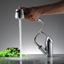 BECOLA кухонный кран одной ручкой вытяните кухонный кран Хромированный кран Латунный смесители кран бесплатная доставка CH-8008