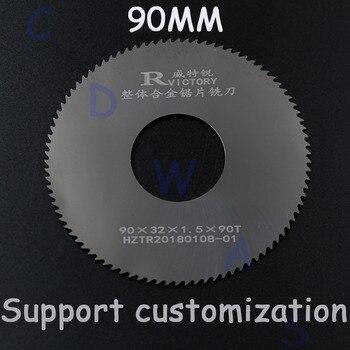 2 шт. 90 мм HSS пильный диск поворотные инструмент для металла резец Мощность инструмент резки дерева диски сверло оправки 1,9 -3,0