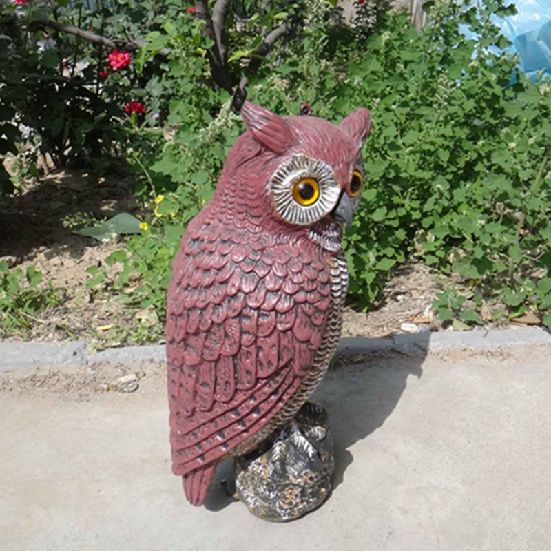 ZILIN Free shipping garden owl decoy bird repellent owl 181742 cm