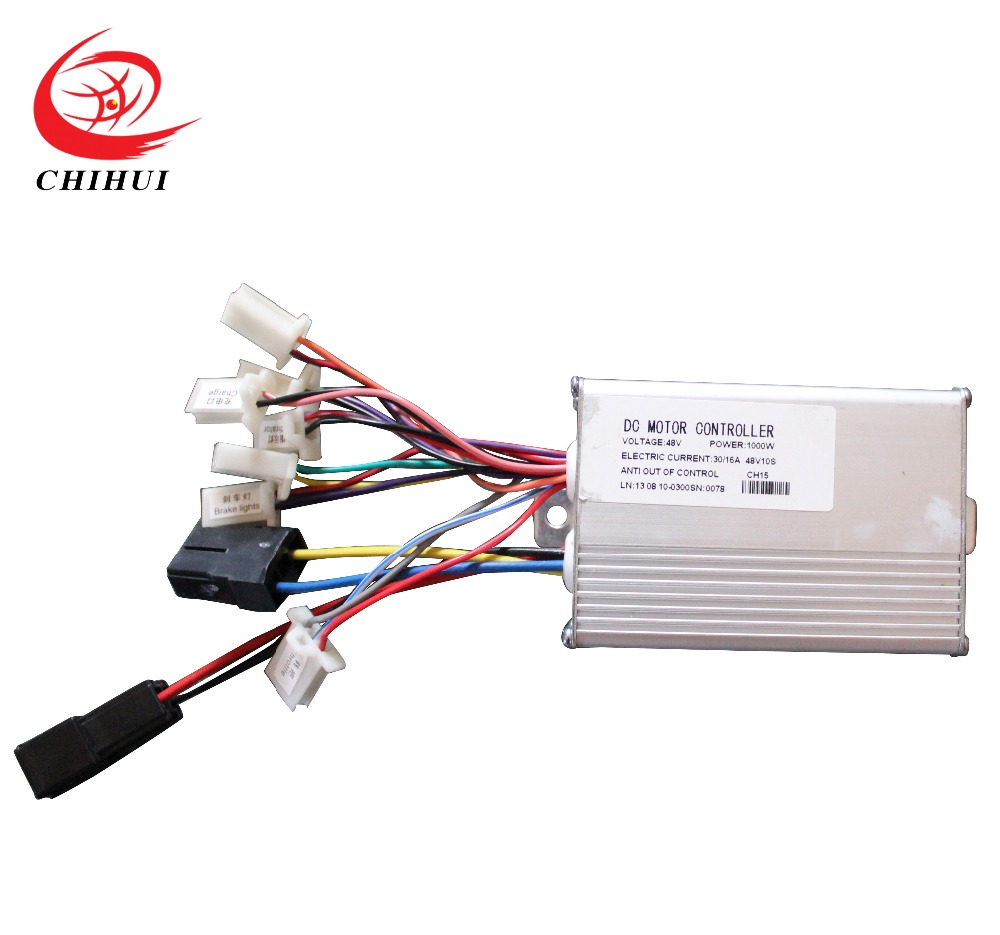 ФОТО Foldable Electric Scooter Controller 1000W 48V Electric DC Motor Controller(Scooter Parts & Accessories)