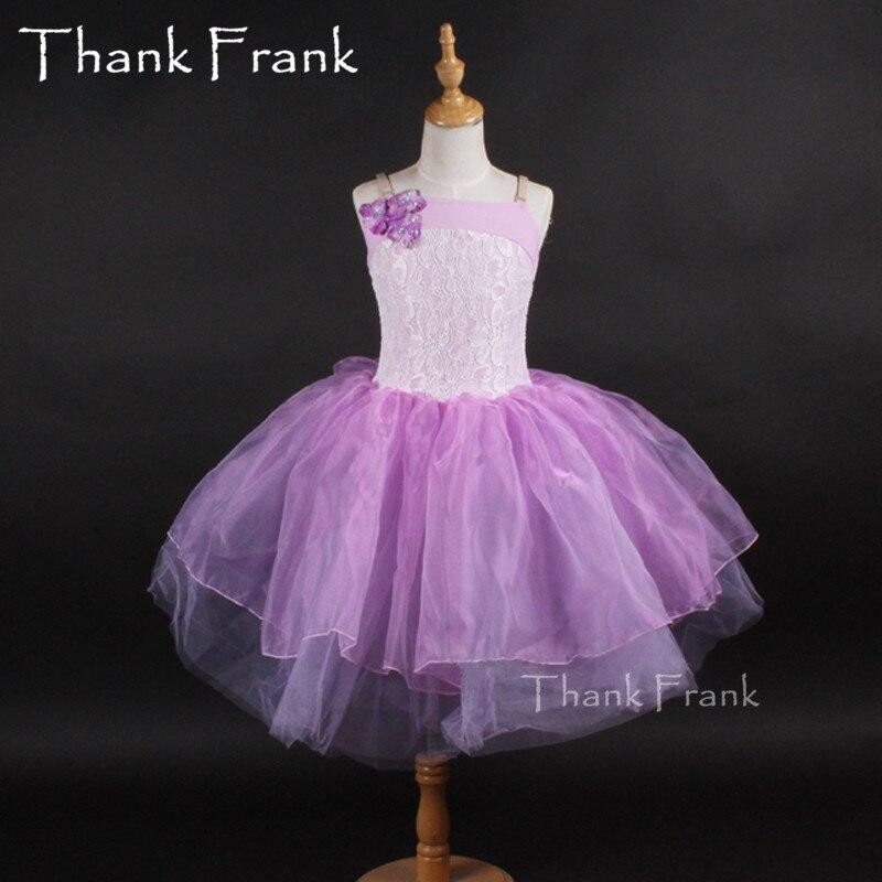 Filles Ballet robe enfants dentelle danse justaucorps robe adulte danse vie violet Ballet costume fille danse Costumes ballerine Tutu robe