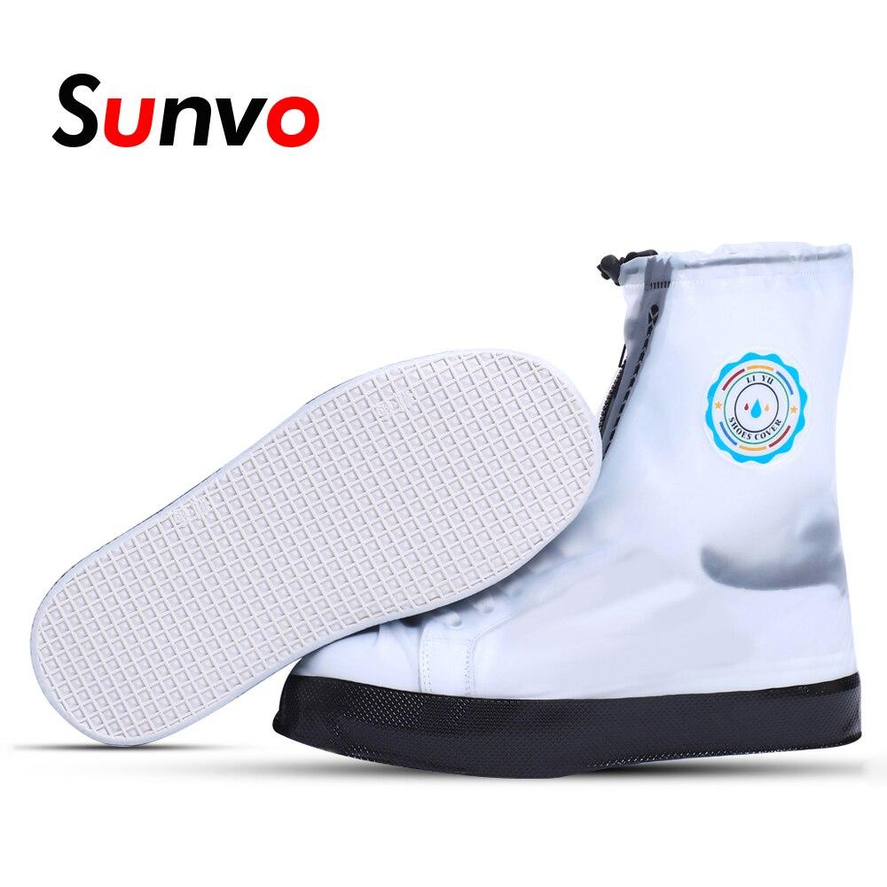 Sunvo Pvc Rainy Waterproof Shoe Cover For Men Women Dirt Proof Boot Covers Shoes Protective Reusable Overshoes Boots Accessories Elegant Shape