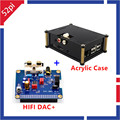 Raspberry Pi I2S Interface HIFI DAC+ Audio Sound Card module +Black Acrylic Case For Raspberry PI B+/2B Version