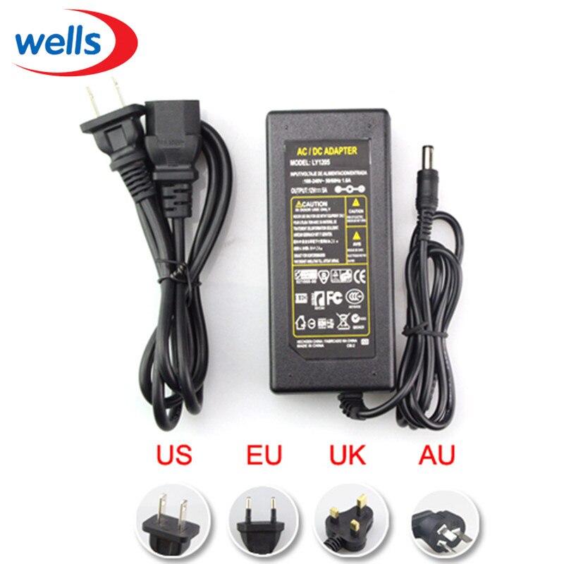 Dc 5 v 12 v 24 v 1a 2a 3a 5 v 6a 7a 8a 10a fonte de alimentação ac 100-240 v para 5050 3528 5630 adaptador de carregador de transformador de luz de tira led