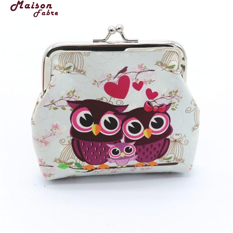 Maison Fabre Coin Purse Cute Women Lady Retro Vintage Owl Leather Small Wallet Hasp Purse Clutch Bag