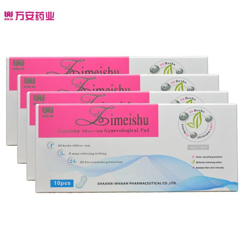 20 pcs = 2 packs zimeishu argent-ion guérison et soins pad Gynécologique Pad pad féminin pour femmes santé
