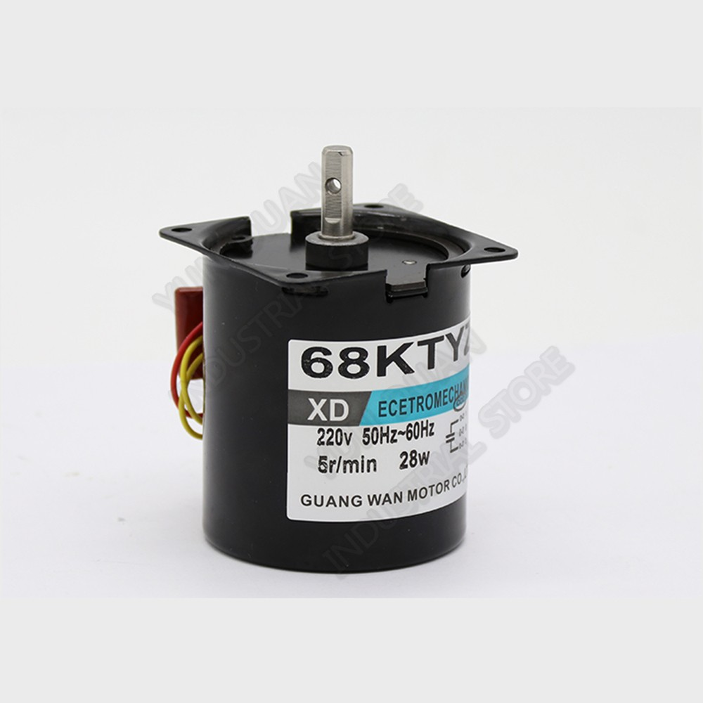 28W AC 220V 1PH PMSM Permanent magnet synchronous motor 2.5-110rpm <font><b>68KTYZ</b></font> Gear High torque Positive and reverse image