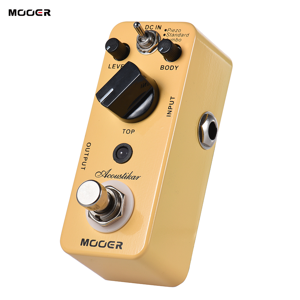 MOOER Acoustikar Acoustic Guitar Simulator Effect Pedal True Bypass with 3 Modes Piezo Standard Jumbo