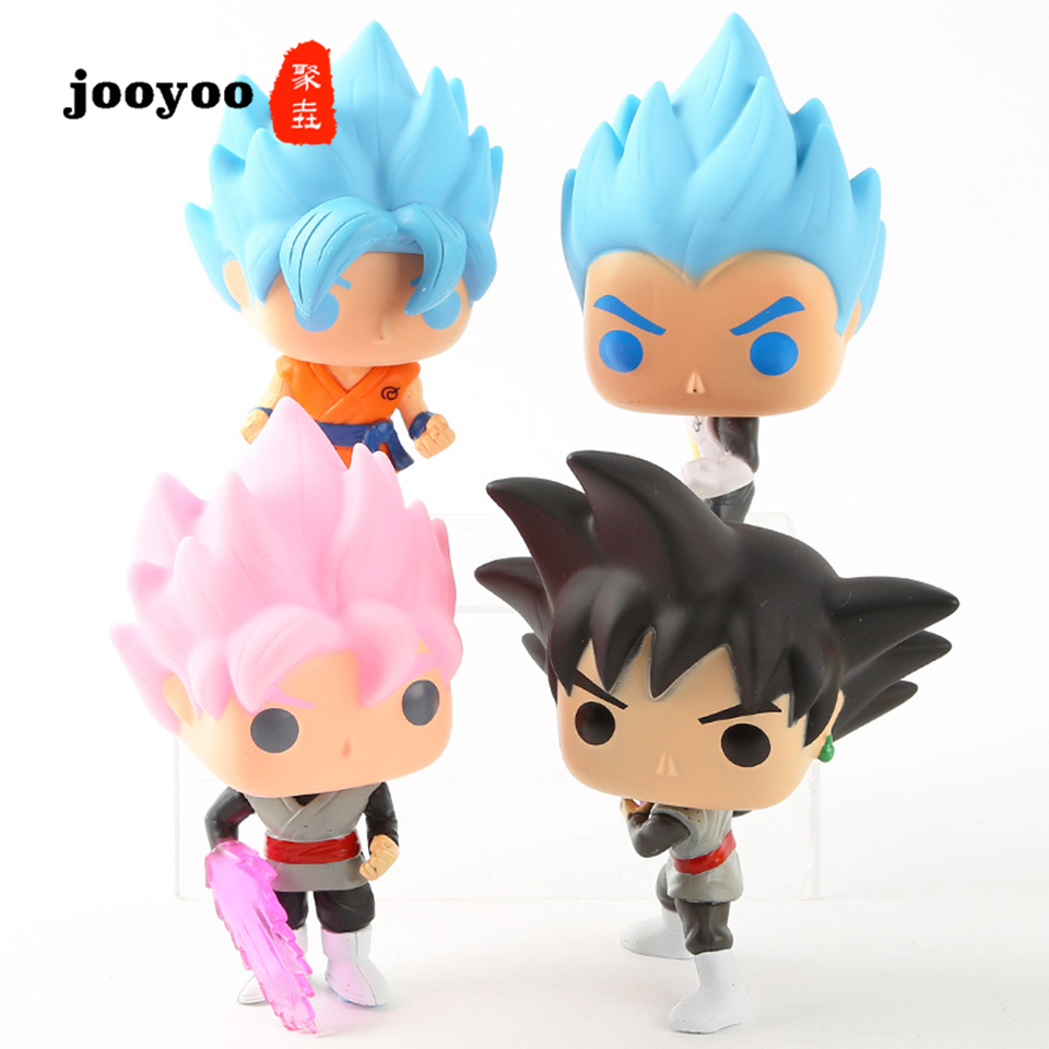 Dragon Ball Son Goku Vegeta Figure Decoration Dragon Ball Super Super Siya Zamas Black Goku Action Figure Doll Model jooyoo