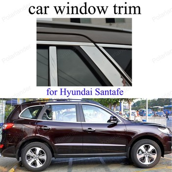 Stainless Steel For H-yundai Santafe Car Styling Window Trim Decoration Strips Accessories  without column