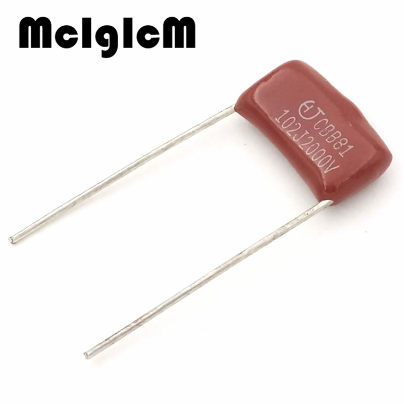 MCIGICM 1000 pcs 102 1nF 2000V CBB Polypropylene film capacitor pitch 15mm 102 1nF 2000V