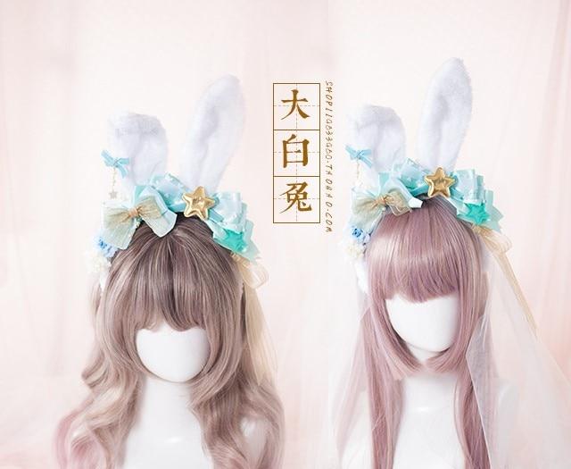 Princess sweet lolita Japanese Princess Japanese Harajuku Mint Green Star hairpin  dk29