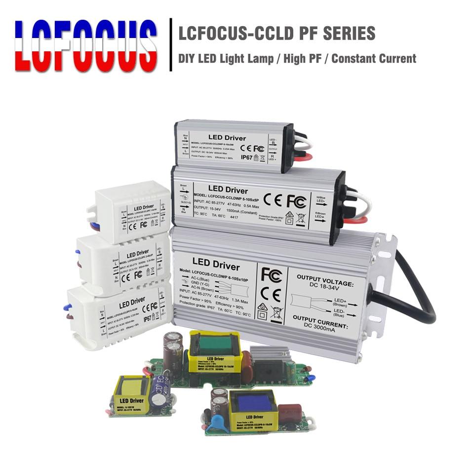1 w 3 5 10 20 30 36 50 100 led driver iluminação transformadores fonte de alimentação para diy 1 3 5 10 20 30 50 100 w watt lâmpada