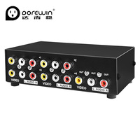 Dorewin Audio Video AV Converter Box 4 In 1 Out HD 3RCA Convert To TV AV