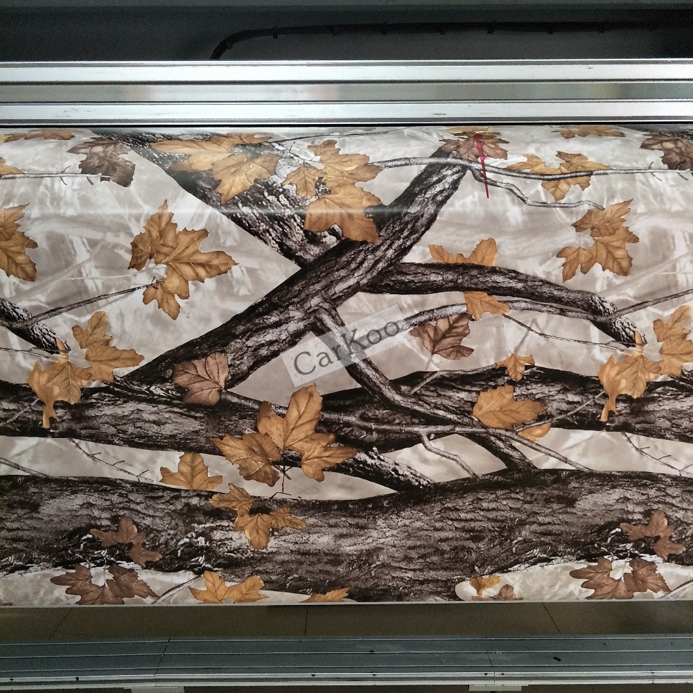 Le vrai arbre Camo enveloppant le vinyle de Camo enveloppe des feuilles dans Realtree, modèle de camouflage bionique pour le camion de véhicule d'autocollant d'aluminium d'enveloppe de voiture