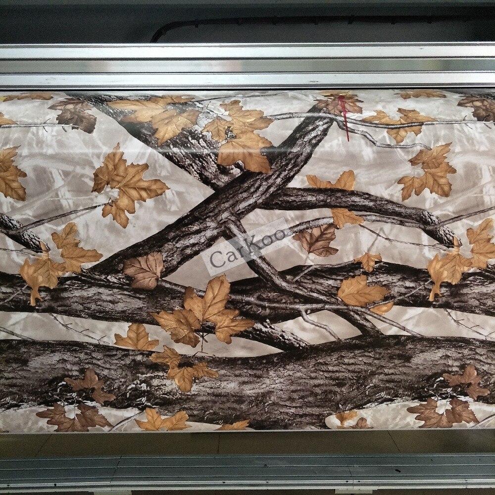 Véritable arbre Camo enveloppant des feuilles de vinyle Camo en Realtree, motif de Camouflage bionique pour voiture Wrap feuille autocollant véhicule camion