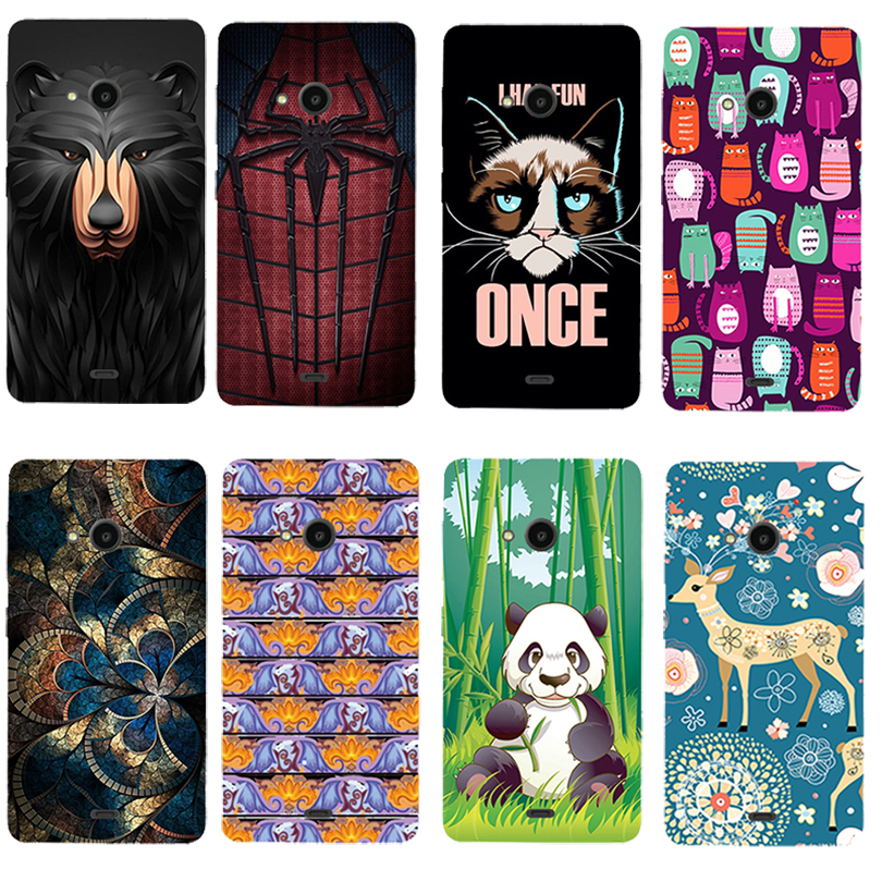 For Microsoft Lumia 625 Printed Case Luxury Hard Plastic Drawing Phone Shell For Microsoft Lumia 625 Cartoon Back Cover