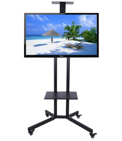 все цены на 32-60 inch LCD LED Plasma TV Mount Floor Display Stand Carts/Trolley With DVD Holder And Camera Holder NB1500 онлайн