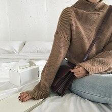 5 色 (F1311) 秋と冬ブリーフスタイル無地タートルネック暖かいセーターやプルオーバーレディース