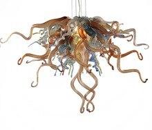 Latest Design New Classic Unique Elegant Handmade LED Blown Glass Chain Chandelier Cheap Price Vintage Small
