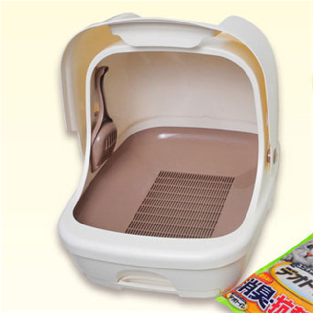Plastic Litter Box Cat Toilet Training Cofre Closed  Gato Products For Cats Sand Box Pet Potty Restroom Indoor Supplies QQV759