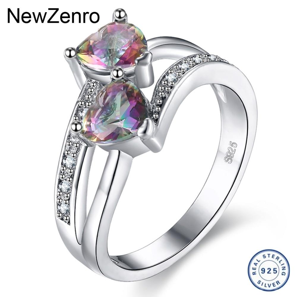 925 Серебряное кольцо для женщин мигает Циркон Любовь кольцо в форме сердца Свадебные украшения JZ072