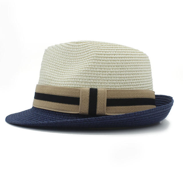 f8df0a57953ae Classic Summer Women Men Toquilla Straw fedora Hat Elegant Queen Homburg Panama  Cap Gentleman Dad Godfather Hat