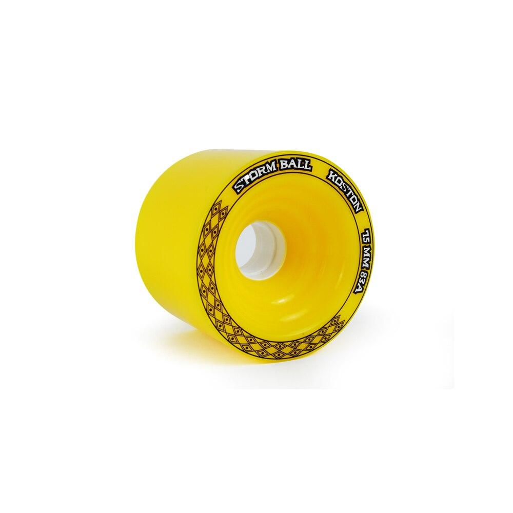 Prix pour KOSTON pro longboard planche à roulettes roues pour descente à des fins de course, 75x56mm roues avec 80% rebond et 83A/86A duromètre
