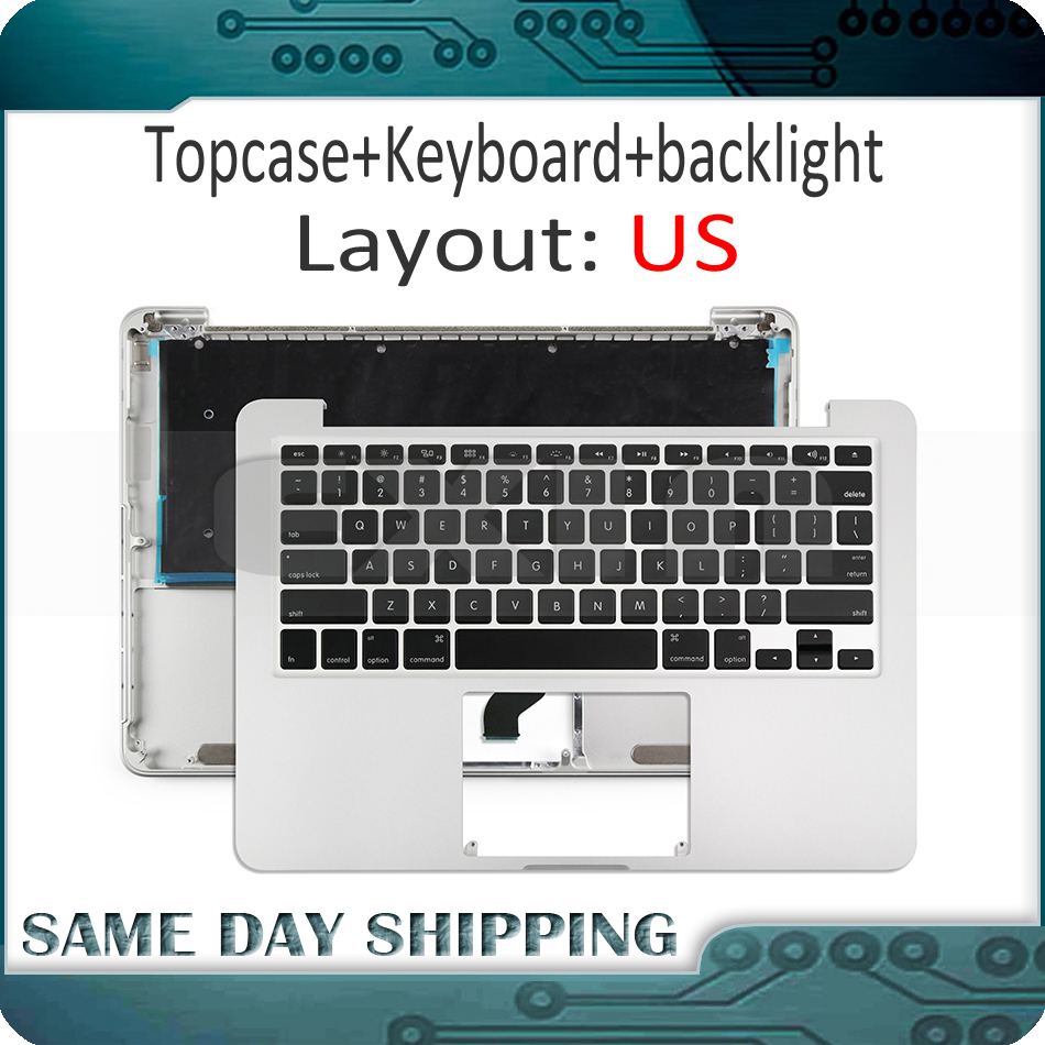 2015 Year Laptop A1502 Topcase with Keyboard US English for Macbook Pro Retina 13 2015 Year Top Case With US Keyboard Layout for macbook pro retina 13 a1502 topcase with keyboard upper top case palmrest us layout late 2013 mid 2014 661 8154