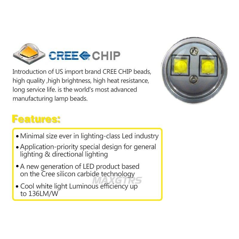 2X50 Вт S25 1157 Bay15D CREE чип XBD светодиодные лампы белый/Amber P21/5 Вт автомобиля Обратный резервного копирования Стоп Включите парковка световой сигн...