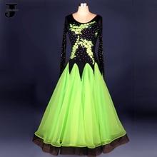 Ballroom Dance font b Dress b font Beaded Diamond High Grade Vestido De Formatura Jazz Waltz