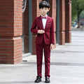 Высокое Качество 2017 элегантный Благородный Нагрудные Малыш Смокинги мальчика Камвольно Пользовательский Цвет Регулярные Специальные свадебные Мальчиков Наряд XY010
