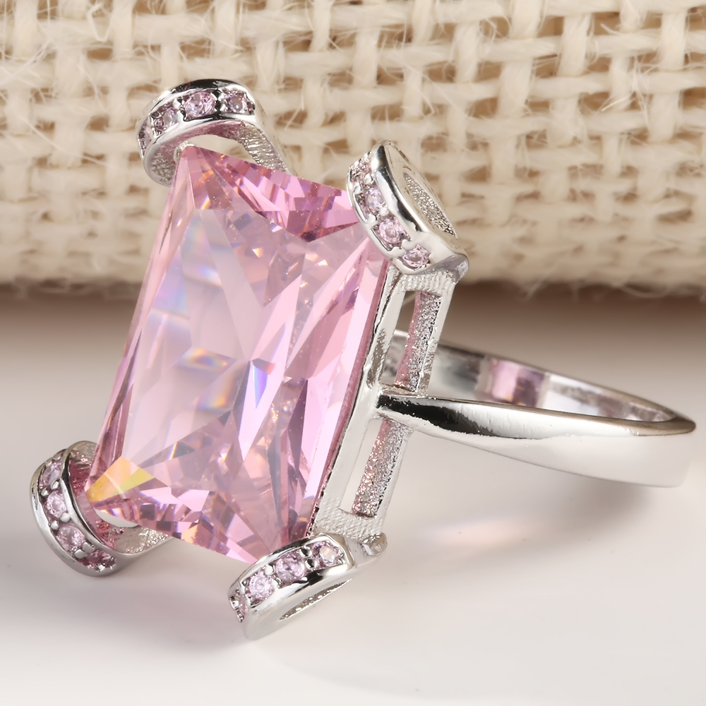 New Fashion Hollow Alloy Pink Gold Bling Zircon Crystal Wheel Rings ...