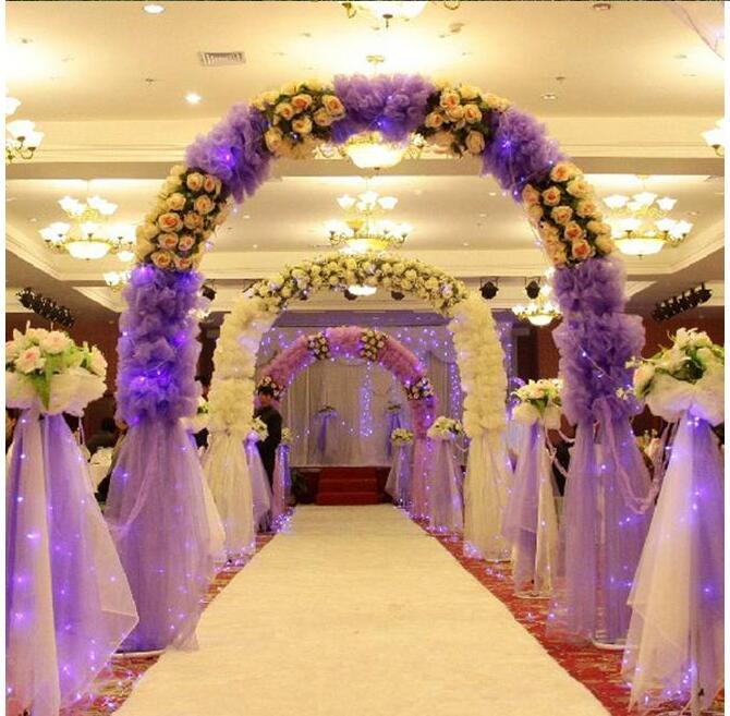 Vente en gros 3 ensembles nouvelle arche étagère fer Art détachable fleur porte cadre mariage fête ouverture cerise arc événement décoration