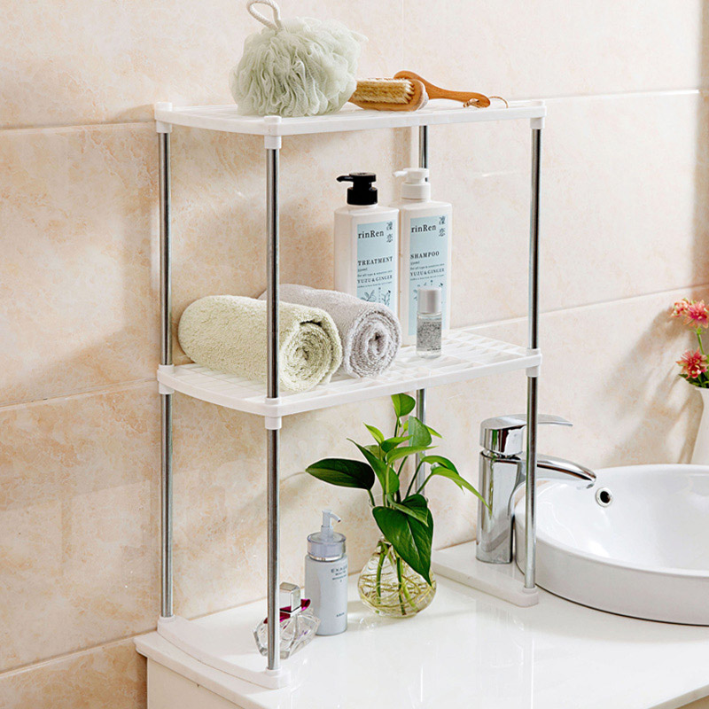 Home Storage Rack Holder Stainless Steel Plastic Multiple Layer Hollow Kitchen Bathroom Storage Shelf Book Computer Shelves-in Storage Holders u0026 Racks from ... : metal bathroom storage  - Aquiesqueretaro.Com