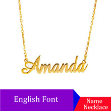 Name Necklace Gold Sliver Color Stainless Steel Personalized Custom Necklaces,Custom Necklace, Pendant