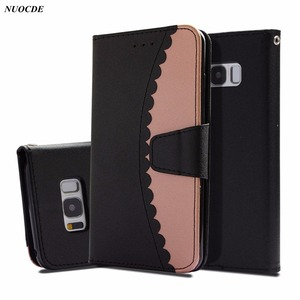 Luxury Flip Wallet Leather Case For Samsung Galaxy S8 S9 Plus S7 Edge A5 J3 J5 J7 2017 A8 2018 Note 9 Lace Edge Phone Bag Cover