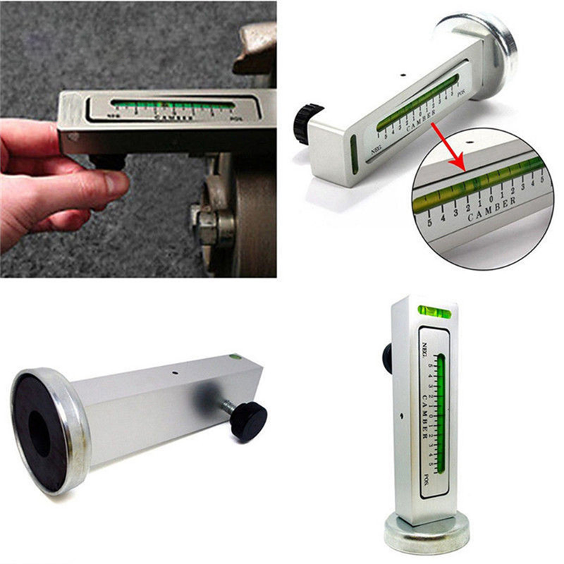 1pc Adjustable Magnetic Wheel alignment level magnetic level gauge ft camber adjustment tool magnet positioning tool universal magnetic gauge tool for car truck camber castor strut wheel alignment angle measuring tools white